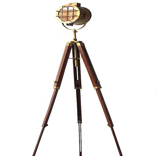 Lámpara de pie estilo industrial Trípode