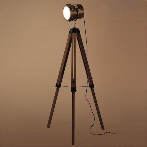 Lámpara de pie moderna trípode
